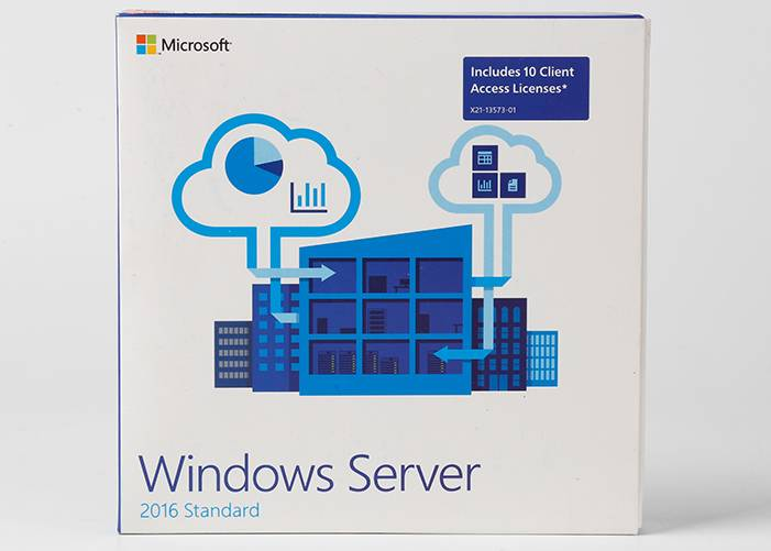 Microsoft Windows Server 2016 Standard Retail Box DVD + Key Card Activated Online