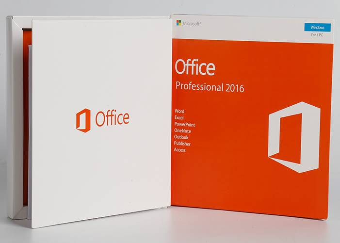 Office 2016 pro plus Retail Box DVD + Key Card