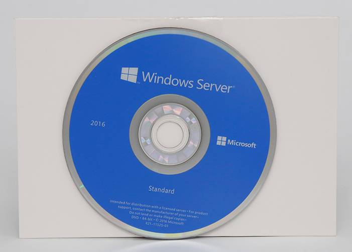 የ Windows Server 2016 መደበኛ የኦሪጂናል ጥቅል ዲቪዲ + COA የሚለጠፍ መስመር ገብሯል