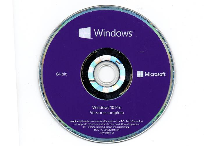 Microsoft Windows 10 pro OEM 64 Bit Online Activation Globally Italian Version