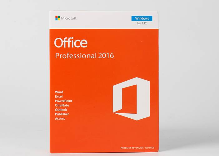 Microsoft Office 2016 pro plus Retail Box PKC weergawe