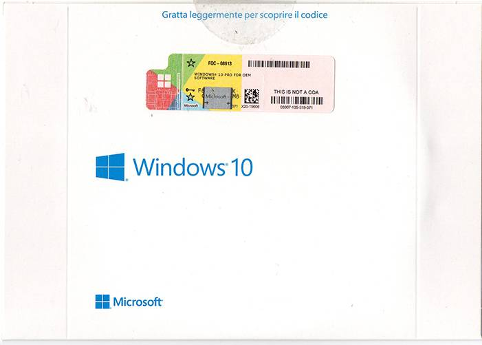 Italian Language Windows 10 Pro OEM Package