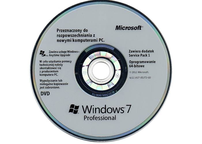 Polish Language Windows 7 Professional OEM Software With Genuine COA Key Sticker