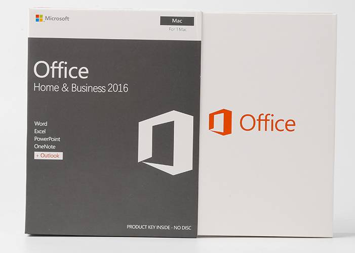 Office 2016 Home and Business for Mac Retail box