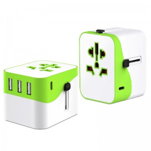 Universal Adapter  Mobile phone charger Wall Charger 4  USB Charger AC Adapter with  EU/US/UK/AUS plug  Travel Adapter