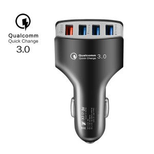 Multi-ports car charger Quick Charger 3.0 USB Car charger Fast Charge 4USB Car Adapter mobile phone charger