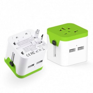 Universal Adapter  Mobile phone charger Wall Charger Dual USB Charger AC Adapter for EU/US/UK/AUST market Travel Adapter