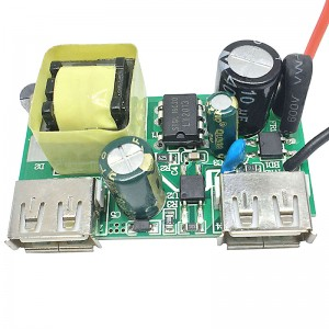 PCBA Circuit Board for Travel Adatper Dual USB charger Assembly for Mobile Phone charger Socket  UK Adapter