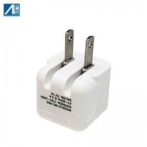 US Adatper USB Wall Charger with foldable US plug  Power Adapter Cube Compatible Phone Samsung Moto, Kindle, LG Mobile phone charger