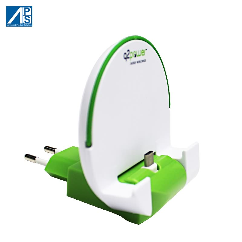 USB Charger Pocket Charging dock Stand holder USB C charger  foldable EU adapter   Docking Station wall charger quick charge Mobile phone charger Featured Image