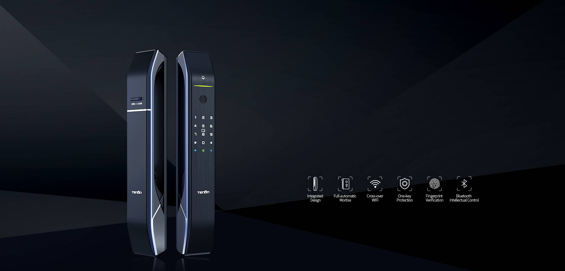 Automatic Wi-Fi enabled smart fingerprint lock A7