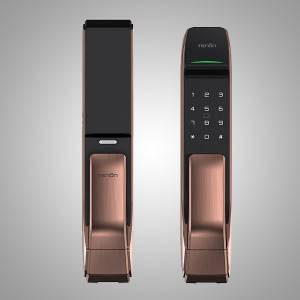A2C Push-pull Automatic Biometric Fingerprint Door Lock