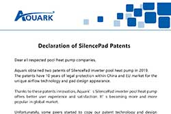 Declaration of SilencePad Patents