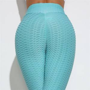 Stylish women sports yoga pants pattern fabric full length bottom gym leggings customised color
