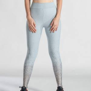 Wholesale women fashion sports leggings yoga pants with foil printing custom logo