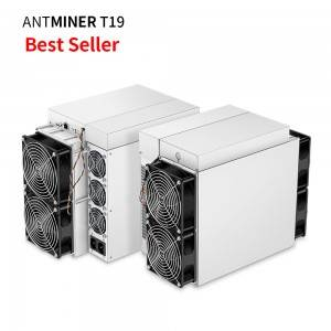 2020 good miner Antminer T19 BTC With Original Psu Bitcoin Miner on stock.