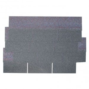 Agate Black 3 Tab Asphalt Roof Shingle