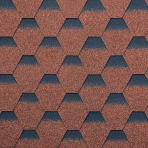 Chinese Red Hexagonal Asphalt Roof Shingle