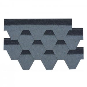 Cloudy Grey Hexagonal Asphalt Roof Shingle