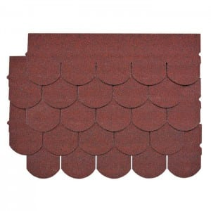 Asian Red Fish Scale Asphalt Roof Shingle