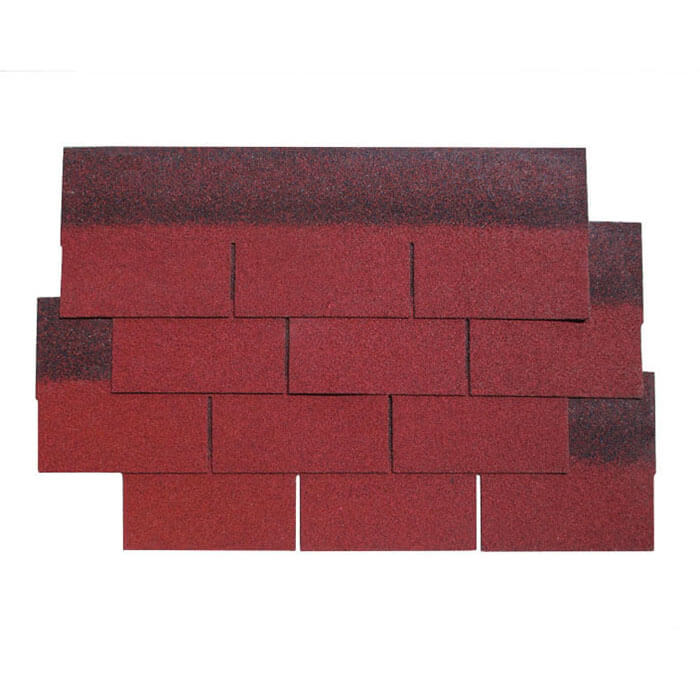 Burning Red 3 Tab Asphalt Roof Shingle