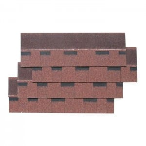 Chinese Red Laminated Asphalt Roof Shingle