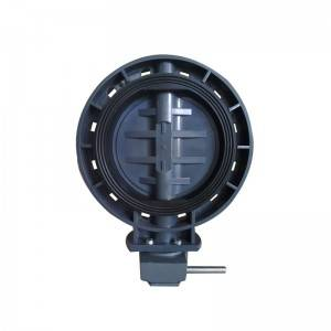 UPVC butterfly valve Gearbox operated