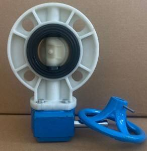 2.5″DN65 trade price rubber seated gearbox operated PP polypropylene butterfly valve