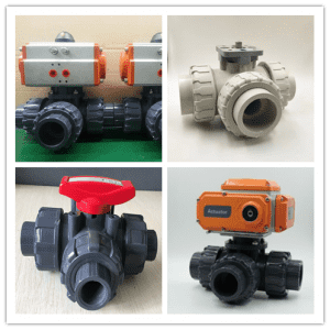 big sale factory price PVC PPH 3 way ball valves