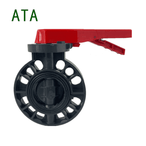 PN10 Universal Standard DN80 PVC Plastic Wafer Butterfly Valves Handle Lever Manual Style
