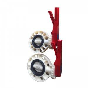 ABS butterfly valve Manual type