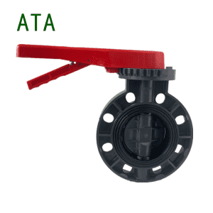 China Valve Manufacturer U-PVC PPR PPH ABS Plastic Industrial Lever Operated Economy Butterfly Valve