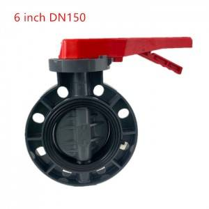 11 years factory wholesale price manual gearbox upvc butterfly valves