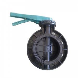 UPVC butterfly valve Black body
