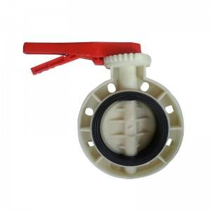 FRPP butterfly valve Handle operated