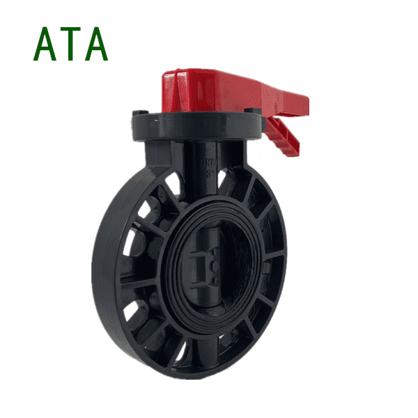 factory wholesale good price upvc wafer lug lever butterfly valve 3inch Featured Image
