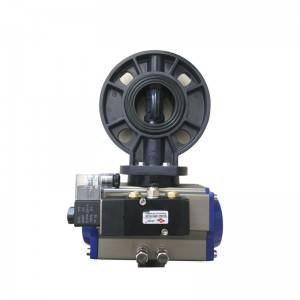 UPVC pneumatic butterfly valves with solenoid valve
