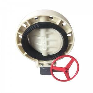FRPP butterfly valve gearbox type