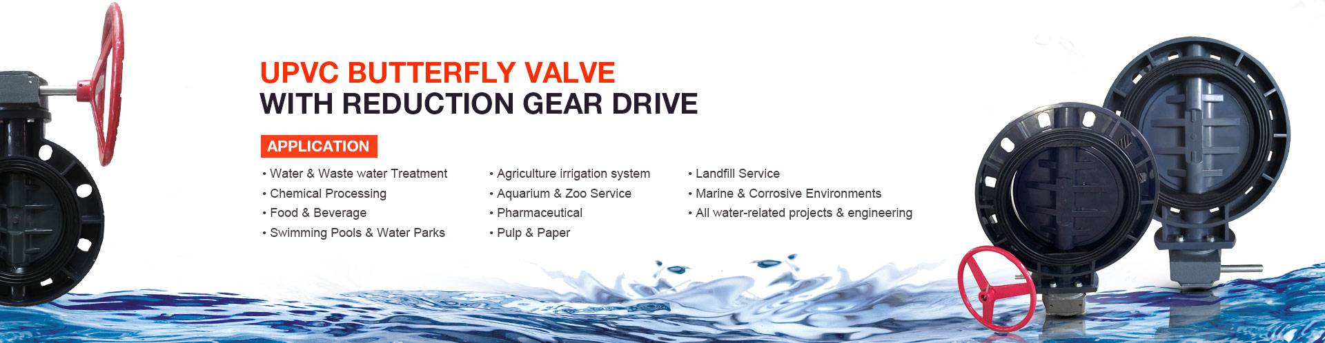 UPVC-Butterfly-Valve-with-Reduction-Gear-Drive