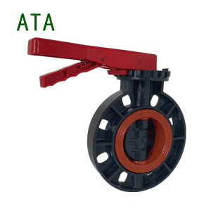 China valve supplier hot sale ANSI JIS 10K chemical industry use 2inch to 8inch UPVC manual handle butterfly valve