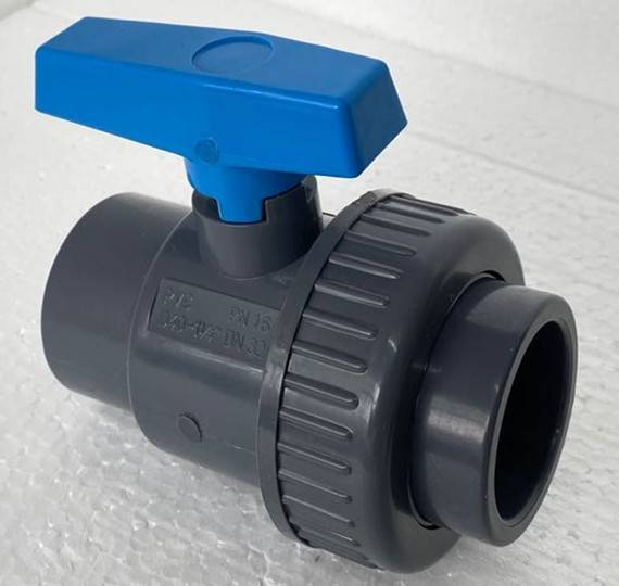 big sale 1/2″ to 4″ rubber soft liner pvc double true single union water  2 way ball valve Featured Image