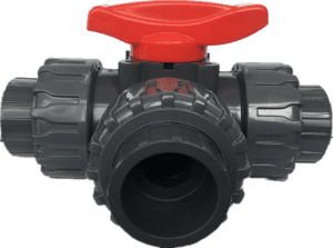 big sale 1/2″ to 4″ rubber soft liner pvc double true single union water  2 way ball valve