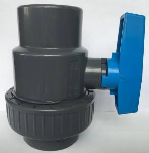 1/2″to 4″ factory cheap price EPDM rubber seat blue handle PVC single union ball valve