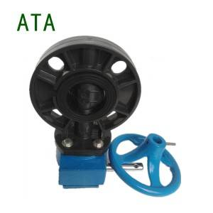 big sale irrigation water system small size 2inch 63mm universal u-pvc gearbox butterfly valves