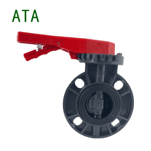 China manufacturer hot sale red handle ANSI 10k PVC butterfly valve handle lever 2″ to 8″