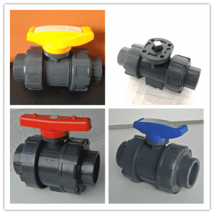11 years factory wholesale price pvc pph double ture union 2 way ball valve