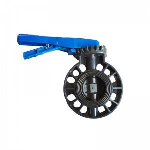 PVC butterfly valve Blue handle