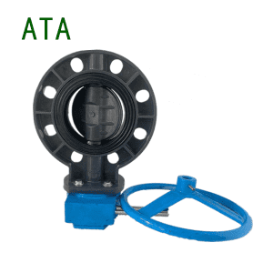ISO 11-year factory big sale sea water use EPDM seat SS stem handwheel u-pvc wafer flange butterfly valve