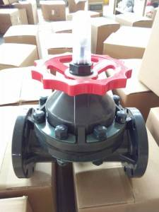 durable quality factory direct sale upvc double union diaphragm valve 20mm to 63mm