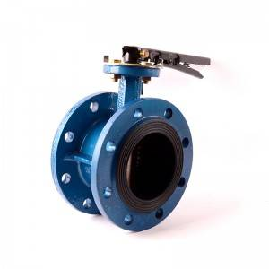 Cast Iron butterfly valve Flange ends